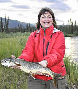 Tina with Trout