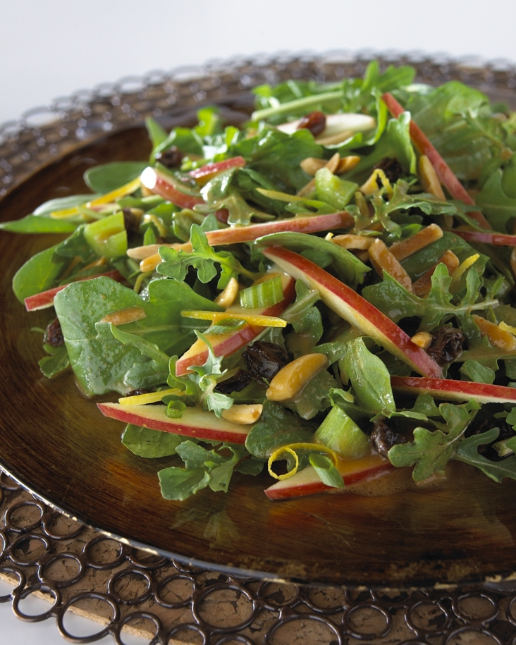 Kale, Mango, and Almond Salad with Honey Ginger Dressing